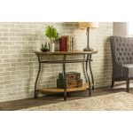 Antique Bronze Curved Console Table