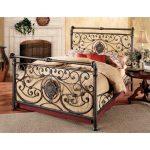 Antique Brown Queen Metal Bed – Mercer