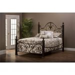 Antique Gold Queen Metal Bed – Mikelson