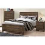 Antique Pine Rustic Contemporary Twin Bed – Arielle