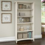 Antique White 5-Shelf Bookcase – Salinas