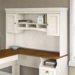 Antique White L-Desk Hutch – Fairview