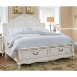 Antique White Traditional Queen Storage Bed – Chateau Monaco