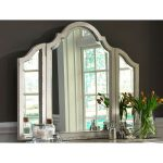 Antique White Traditional Vanity Mirror – Magnolia Manor