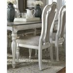 Antique White Upholstered Dining Chair – Magnolia Manor Collection