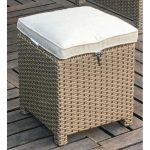 Arcadia Collection Outdoor Patio Cube Ottoman