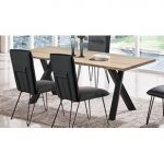 Ash and Black Modern Dining Table – Live Edge Collection