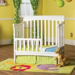 Ashton Child Craft Matte White Toddler Guard Rail for Mini Crib
