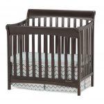 Ashton Slate 4-in-1 Convertible Mini-Crib with Mattress