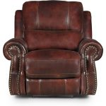 Auburn Leather-Match Power Recliner – Nailhead