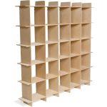 Baltic Birch 25 Cube Storage Bookcase – Organiztion