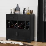 Bar Cabinet with Bottle Storage and Drawers – Vietti
