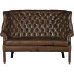 Barcelona Chestnut Brown Leather Settee – Bates