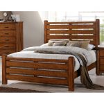 Barley Brown Rustic Queen Size Bed – Logan
