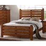 Barley Brown Rustic Queen Size Bed – Logan