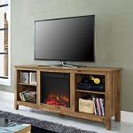 Barnwood Fireplace TV Stand