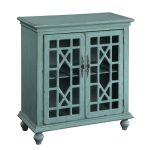 Bayberry Blue 2 Door Cabinet