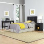 Bedford Black Twin Headboard, Nightstand, and Student Desk