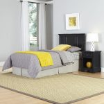 Bedford Black Twin Headboard and Nightstand