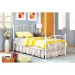 Belle White Princess Twin Metal Bed
