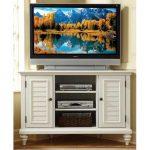 Bermuda Home Styles Brushed White Corner TV Stand