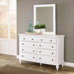 Bermuda White Dresser and Mirror