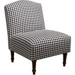 Berne Black Camel Back Armless Chair