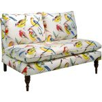 Bird Watcher Summer Armless Loveseat