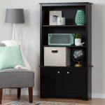 Black 3-Shelf Storage Bookcase – Vito