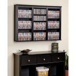 Black 47 Inch Wall Mounted Media Storage