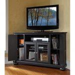 Black 48 Inch Corner TV Stand – Alexandria
