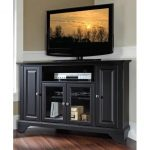 Black 48 Inch Corner TV Stand – LaFayette