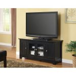 Black 52 Inch Wood TV Stand