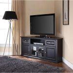Black 60 Inch Corner TV Stand