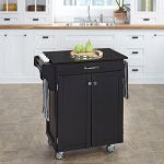 Black/Black Granite Kitchen Cart