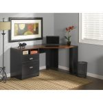 Black/Cherry Corner Desk – Wheaton