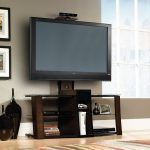 Black/Cherry/Glass TV Stand with Mount