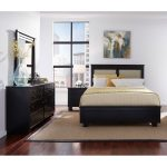 Black Contemporary 6 Piece Full Upholstered Bedroom Set – Diego