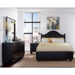 Black Contemporary 6 Piece Queen Arch Bedroom Set – Diego