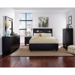 Black Contemporary 6 Piece Queen Bedroom Set – Diego