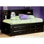 Black Contemporary RoomSaver Twin Storage Bed – Laguna