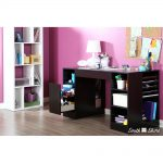 Black Counter Height Craft Table with Storage – Crea