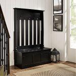 Black Entryway Storage Bench – Ogden