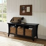 Black Entryway Storage Bench – Wallis