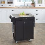 Black/Gray Granite Kitchen Cart