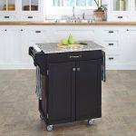 Black/Gray Granite Kitchen Cart