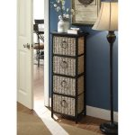 Black Metal 4 Basket Drawer Storage Chest