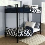 Black Metal Twin-over-Twin Bunk Bed