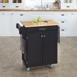 Black/Natural Kitchen Cart