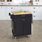 Black/Natural Kitchen Cart